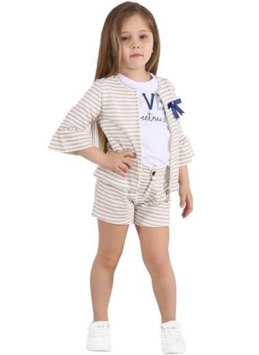 Silversun Kids Kız Çocuk Çizgili Cepli Örme Şort Sc 215454 Sarı